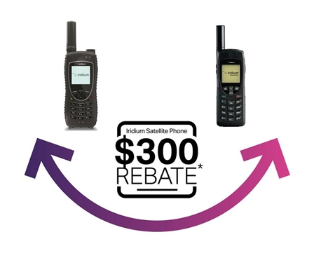 iridium satphone rebate