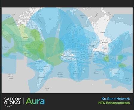 Satcom Global Aura with HTS coverage enhancements